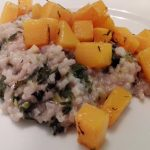 Risotto with Butternut Squash and Purple Kale
