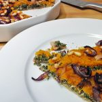 Butternut Squash Pie with Kale and Cream Cheese