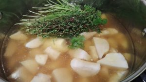 Low Histamine Jerusalem Artichoke Soup - in the making :)