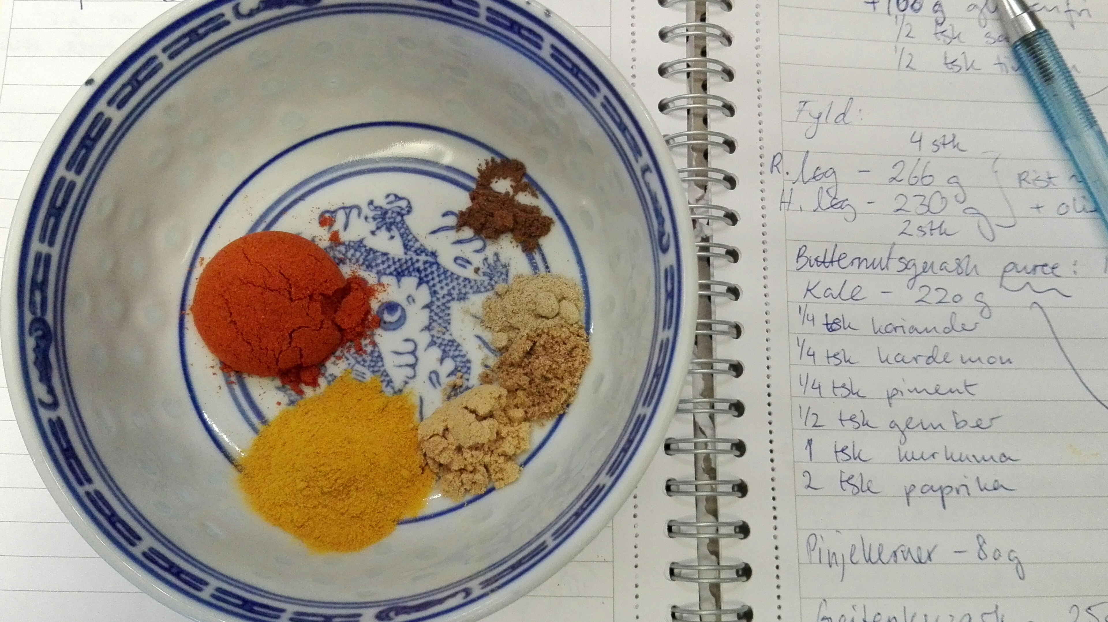 Spices and kitchen notes