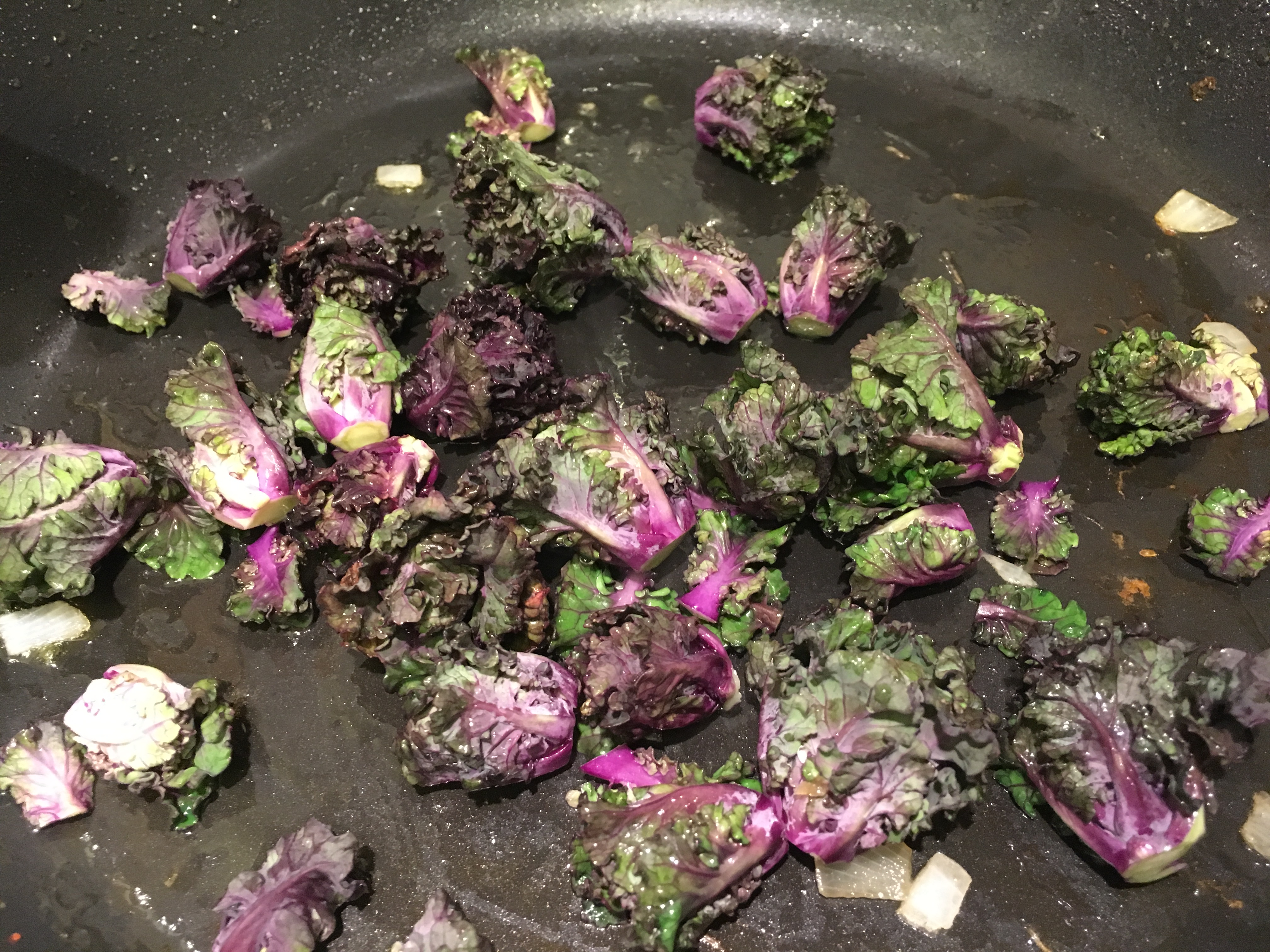 Beautiful Kalettes in the pan