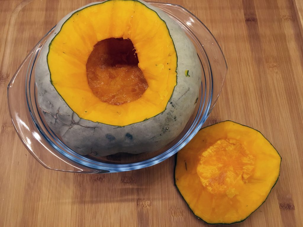 Crown Prince Squash - ready to be stuffed