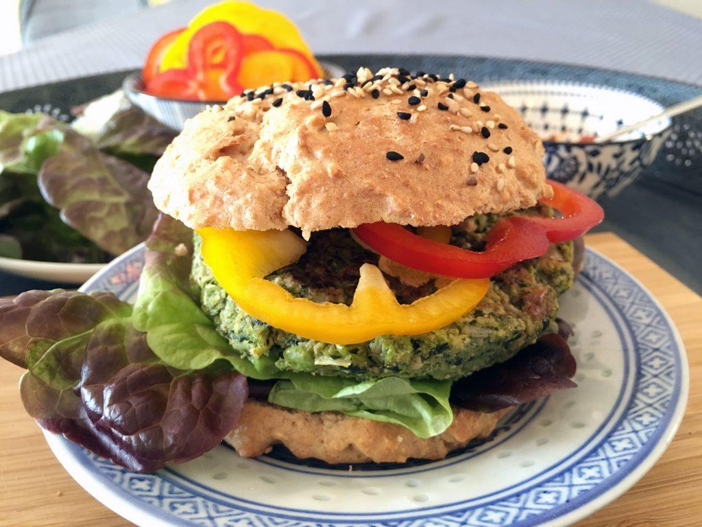 Vegan Broccoli Burger - The Histamine Friendly Kitchen