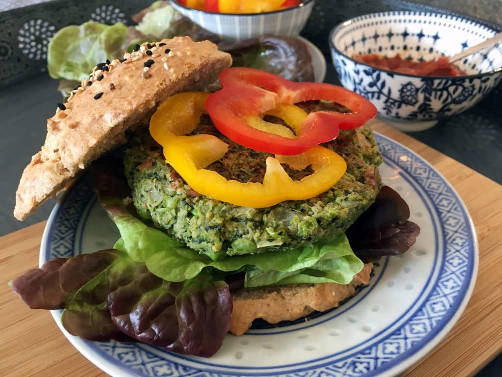 Vegan Broccoli Burger - The Histamine Friendly Kitchen