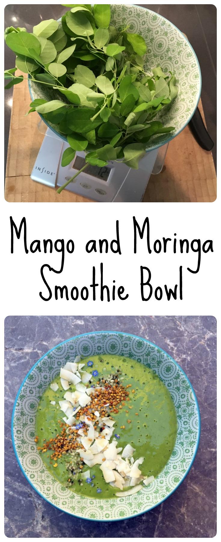 Mango and Moringa Smoothie Bowl - The HIstamine Friendly Kitchen