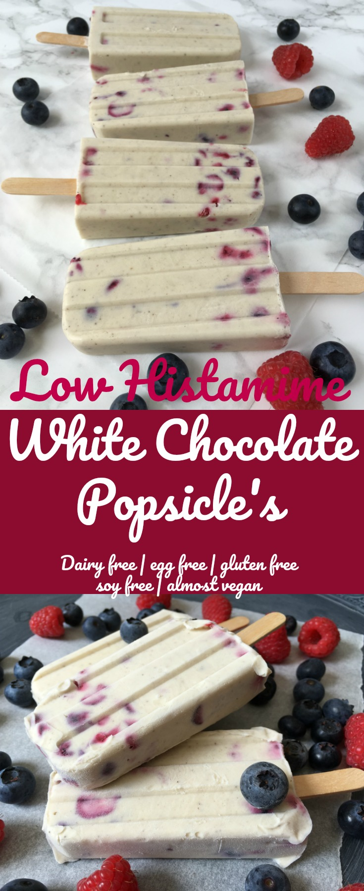Low Histamine White Chocolate Popsicle's - Soooo Goooood \o/ Pin me!!