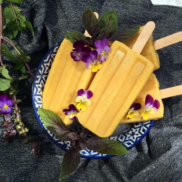 New recipe up on the blog today Mango Turmeric Popsicleshellip