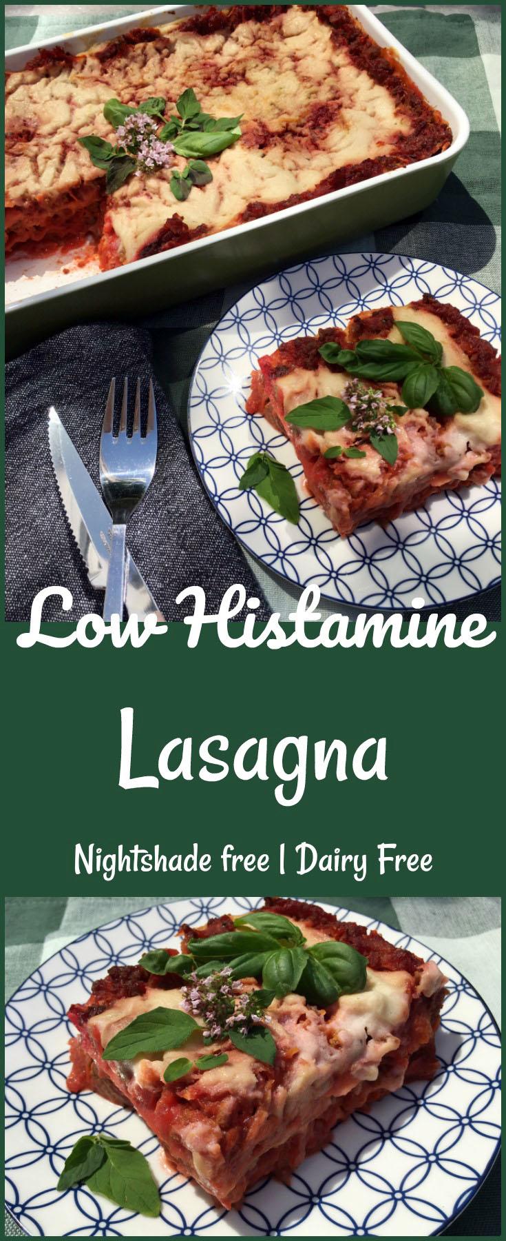 Low Histamine Lasagna - Nightshade Free | Dairy Free \o/ Pin Me!