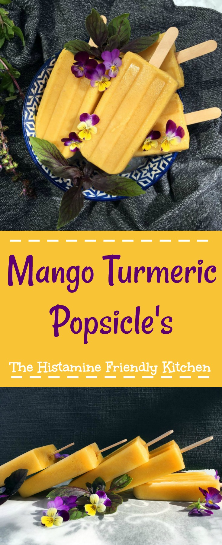 Mango Turmeric Popsicle's