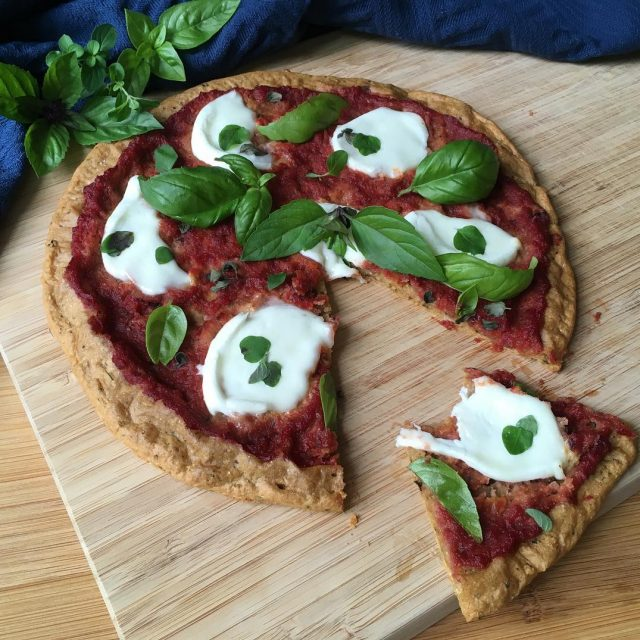 Pizza anyone??? Recipe for my favorite grain free vegan lowhellip