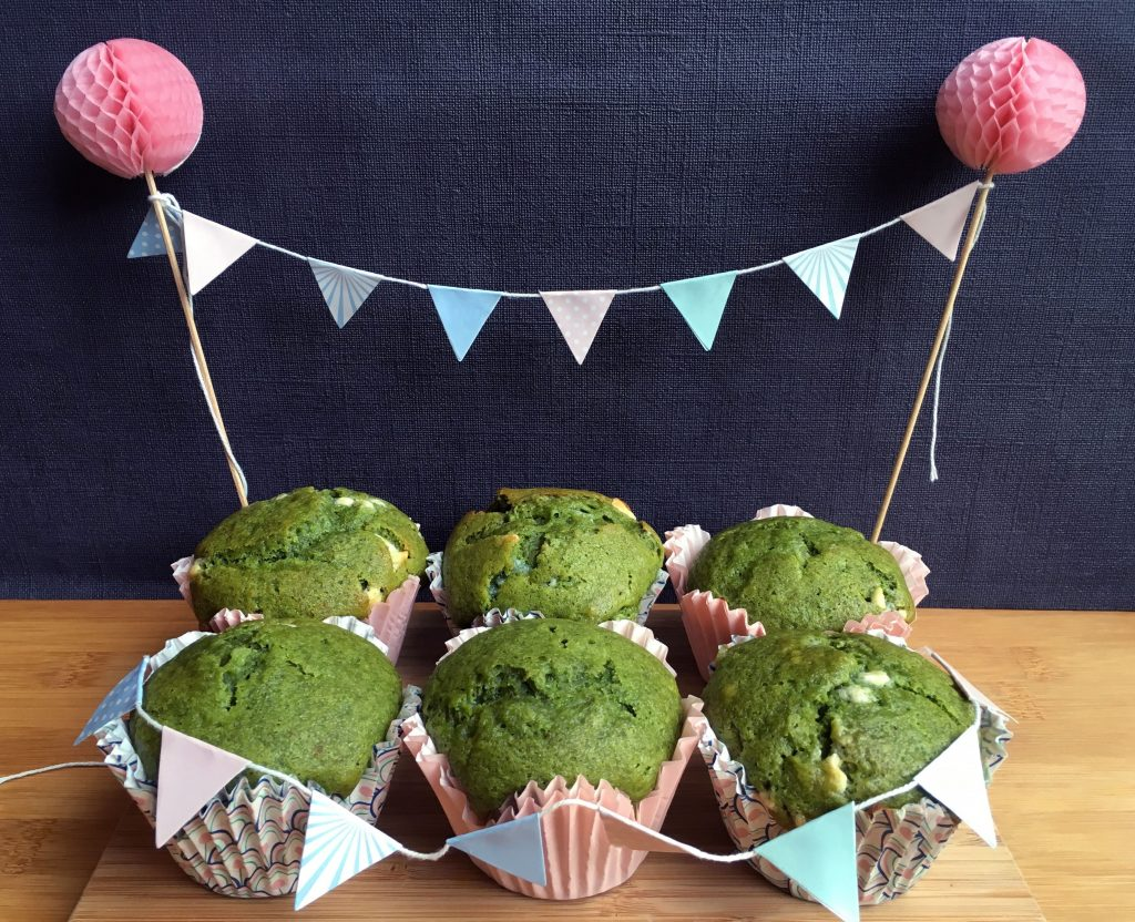 Histamine Friendly Natural Green Muffins - No spinach ;)