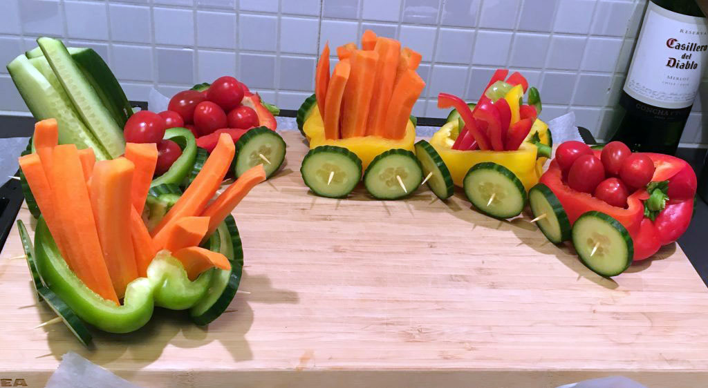 Veggie Train - A cute and fun little party idea
