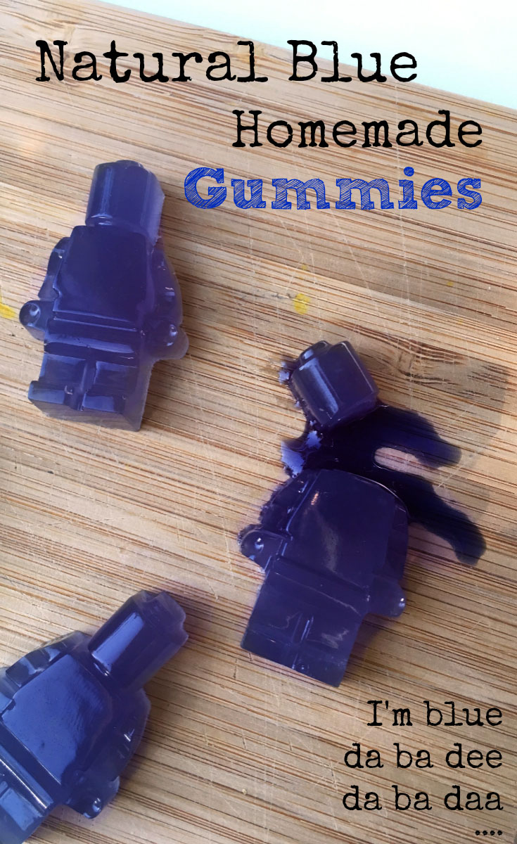 Natural Blue Homemade Gummies