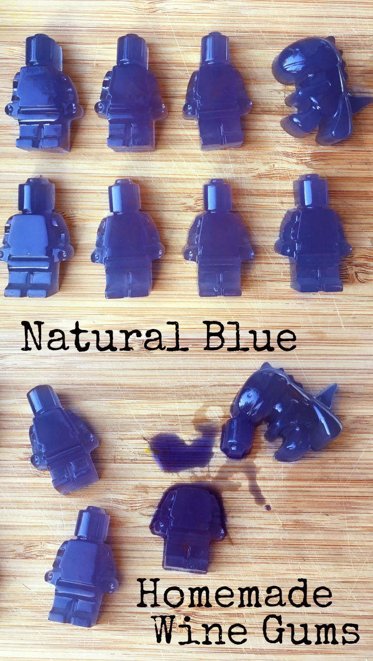 Natural Blue Homemade Wine Gums