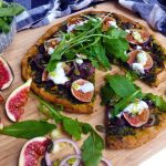 Pizza with Low Histamine Pesto and Fresh Figs