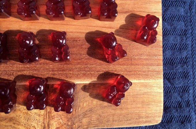 Homemade Red Gummy Bears