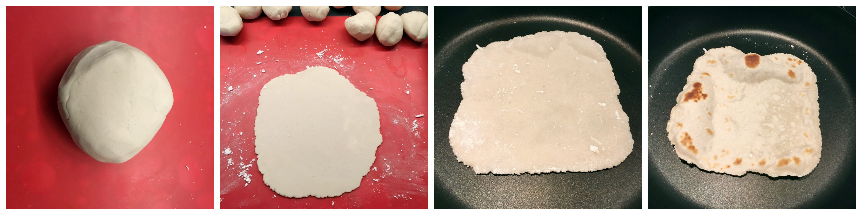 Homemade Grain Free Tortillas made from Cassava Flour