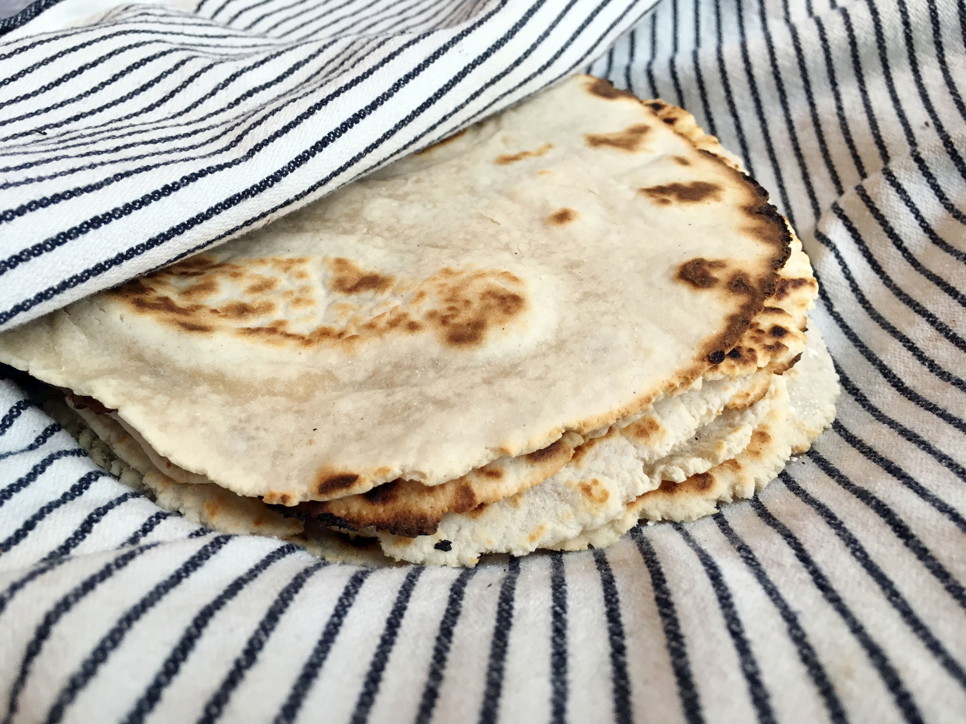 Homemade Grain Free Tortillas made from Cassava Flour