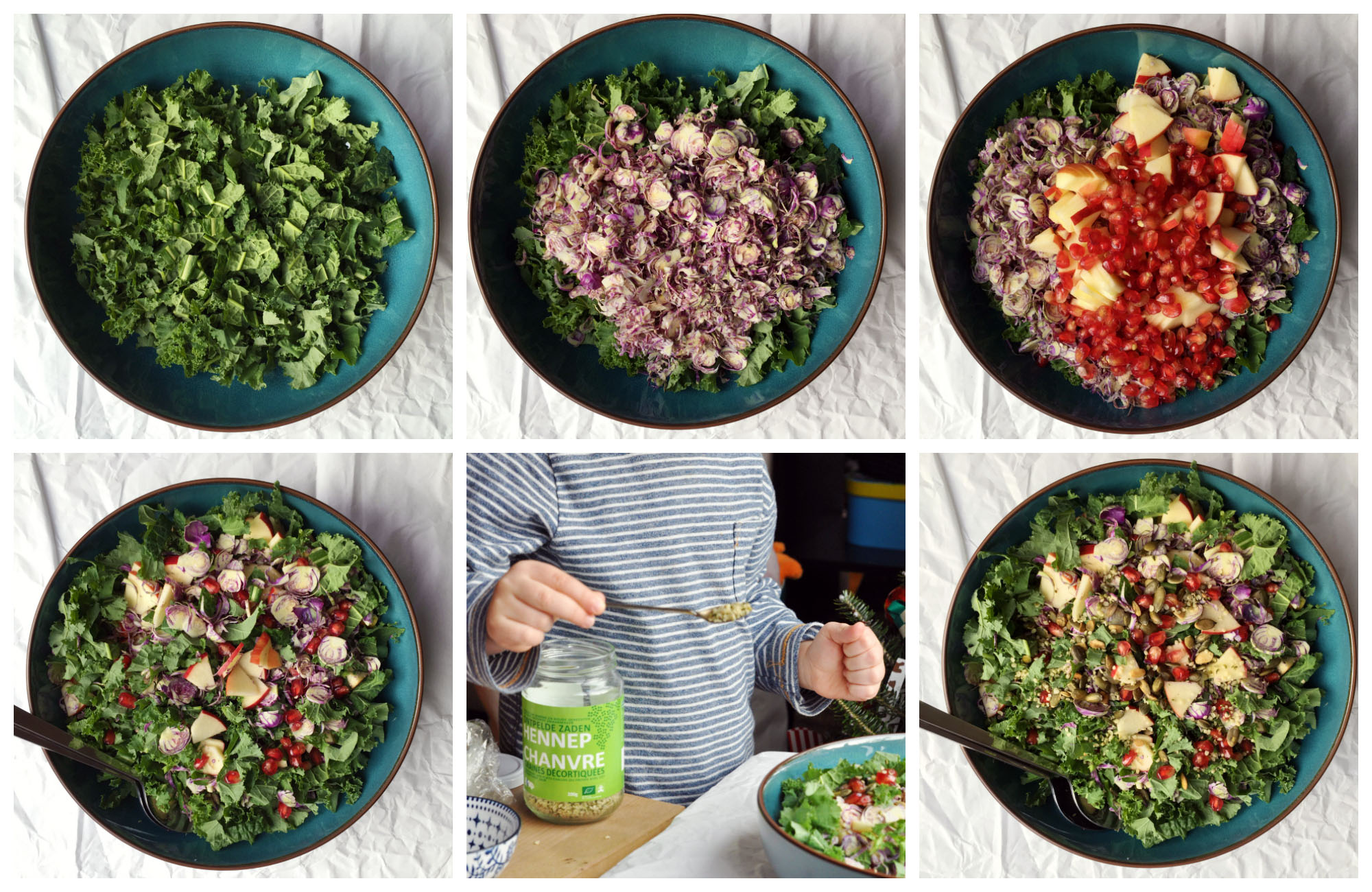 Low Histamine Brussels Sprout Salad - step by step