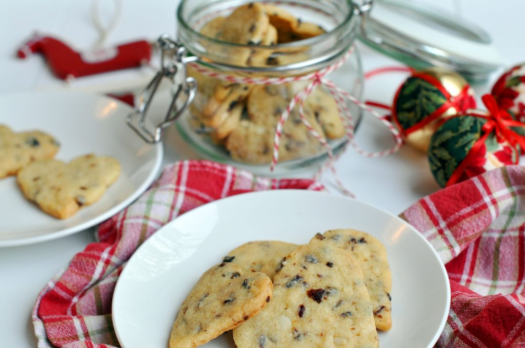 Macadamia Nut and Cranberry Christmas Cookies