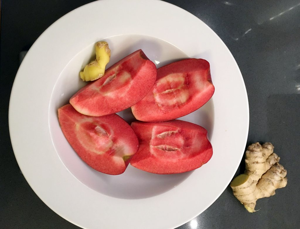 Red Love Apples and ginger