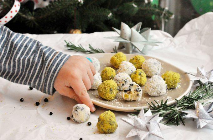 Pistachio Blueberry White Chocolate Truffles