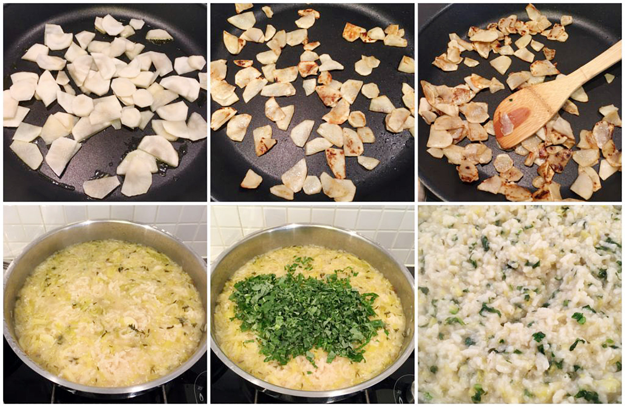 Low Histamine Jerusalem Artichoke Risotto in the making! part 2