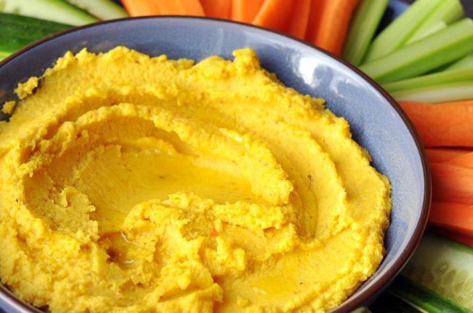 Low Histamine Cauliflower Carrot Hummus