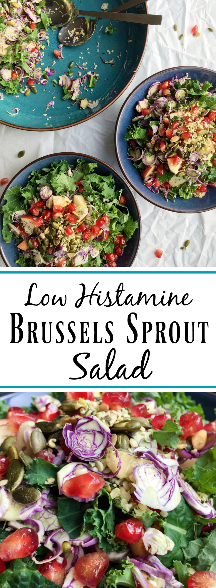 Low Histamine Brussels Sprout Salad. Pin Me!