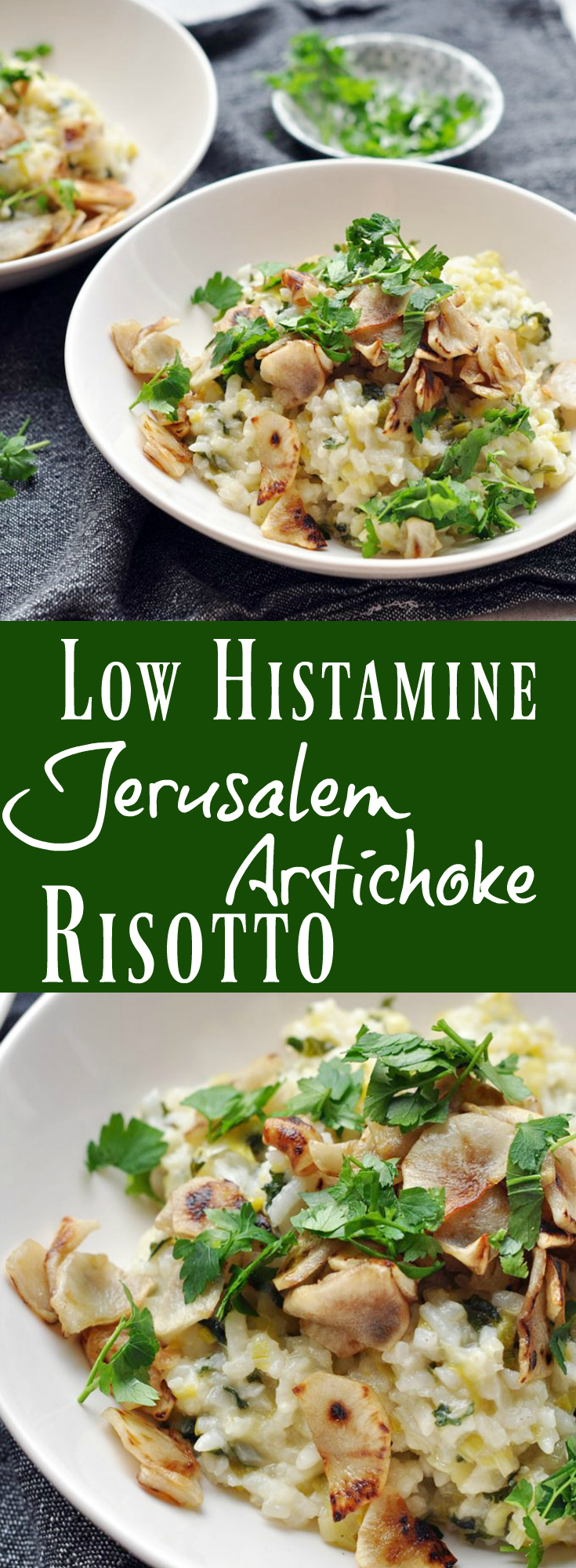 Low Histamine Jerusalem Artichoke Risotto. Pin it!