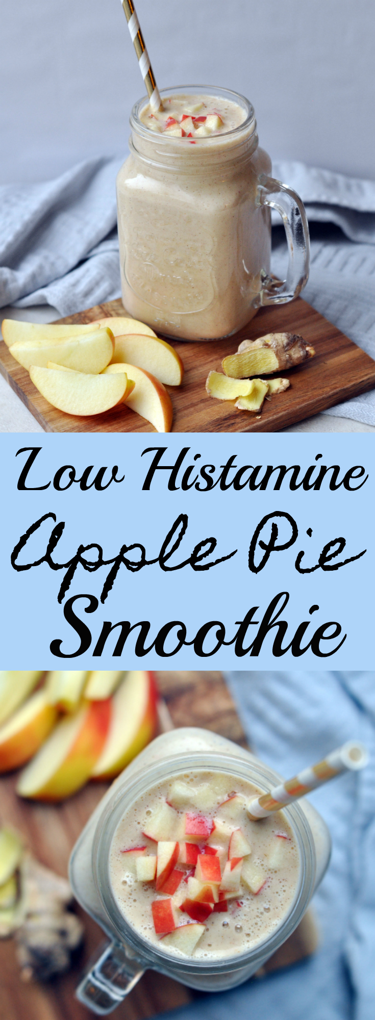 Low Histamine Apple Pie Smoothie. Pin Me :D
