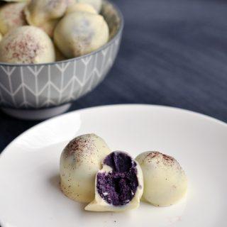 White Chocolate Blueberry Truffles