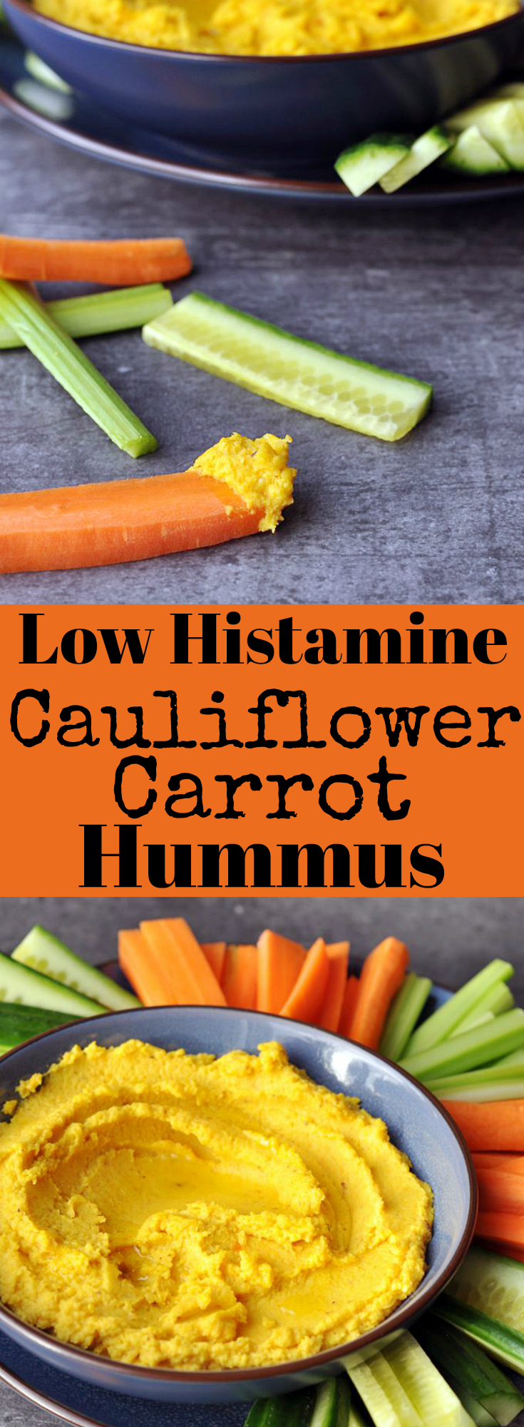 Low Histamine Cauliflower Carrot Hummus - Bean Free!