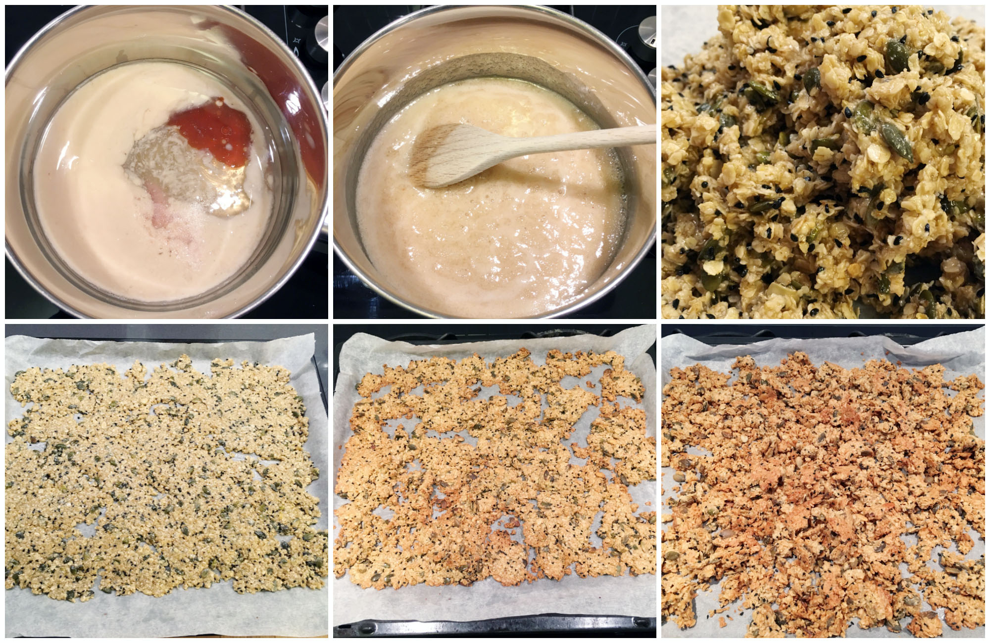 Gluten Free Vegan Salted Caramel Granola - in the making!