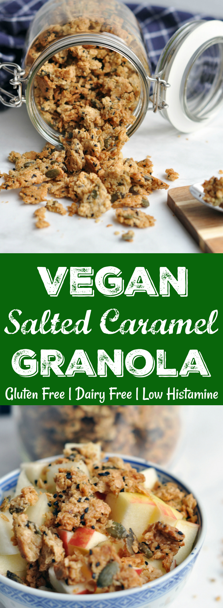 Vegan Salted Caramel Granola - Gluten Free :D