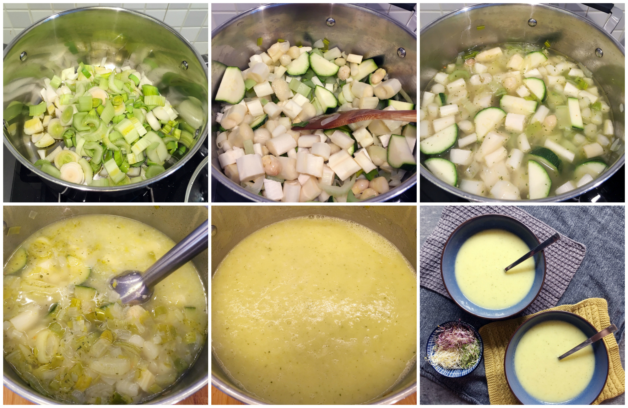Low Histamine Asparagus Soup - Step by Step