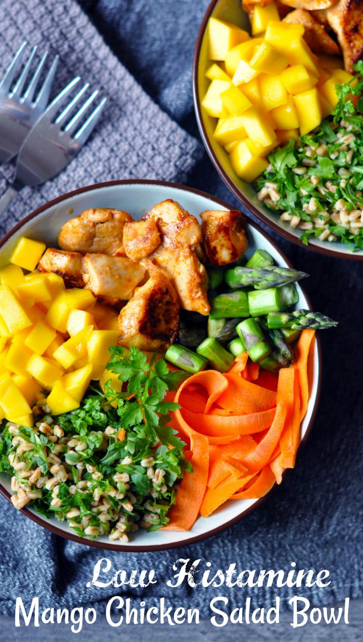 Low Histamine Mango Chicken Salad Bowl
