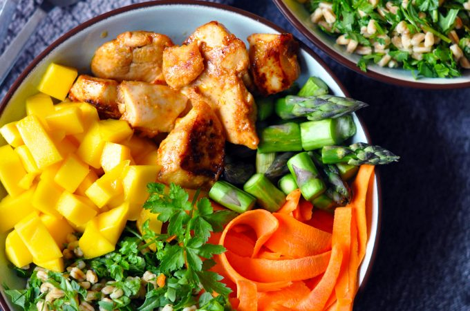 Low Histamine Mango Chicken Salad Bowl