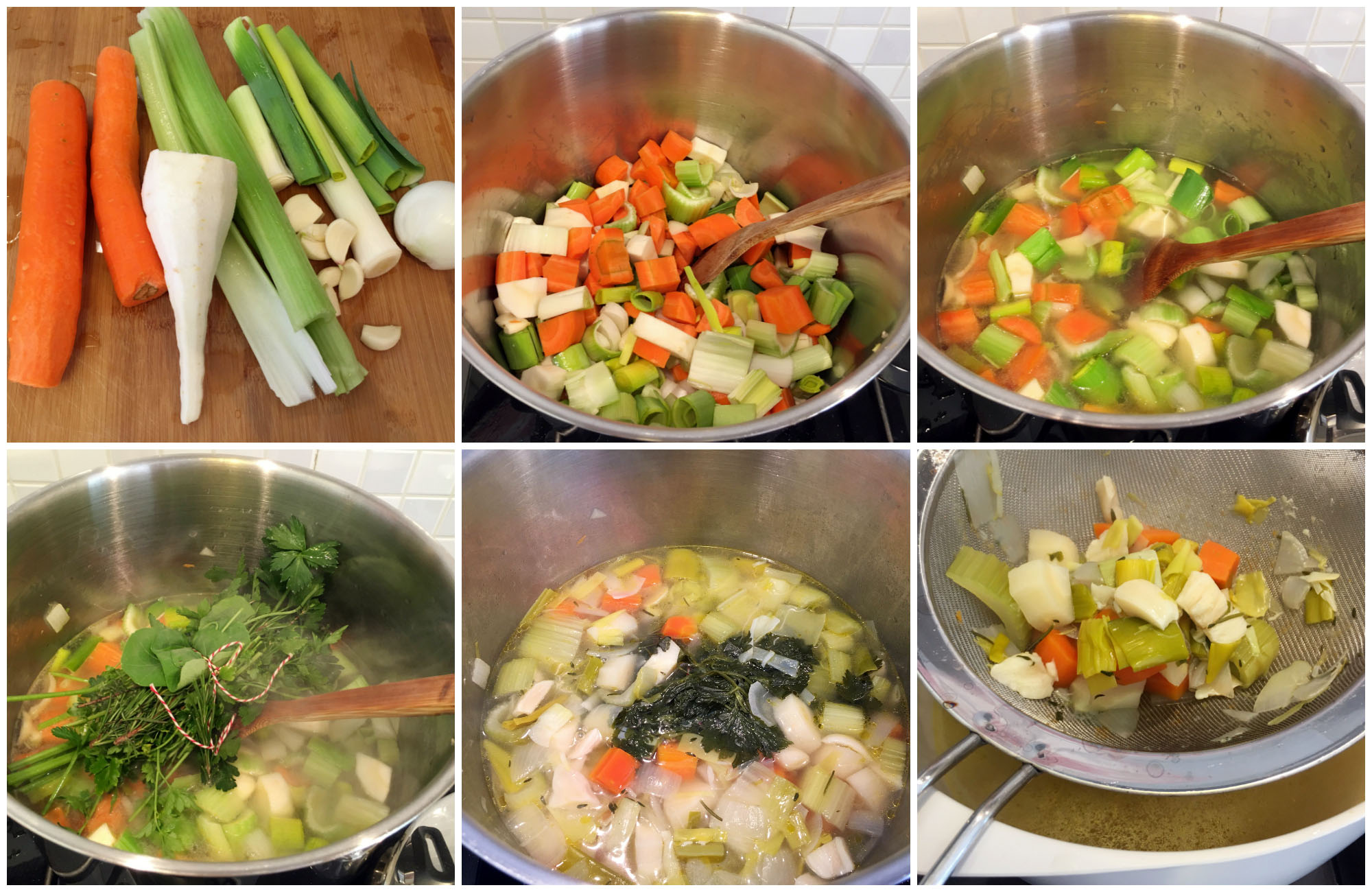 Low Histamine Vegetable Stock - Step by Step