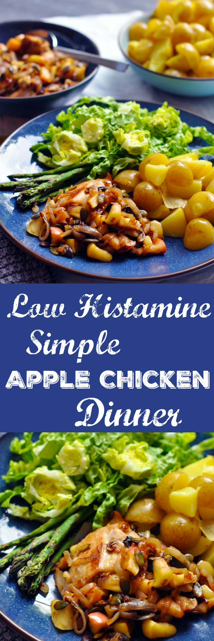 Low Histamine Simple Apple Chicken Dinner