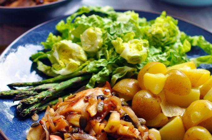 Low Histamine Simple Apple Chicken Dinner