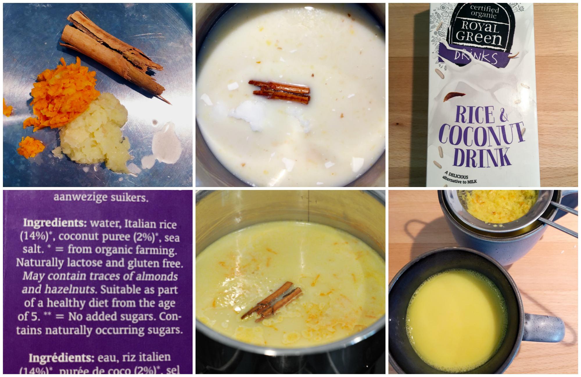 Low HIstamine Golden Milk - in the making