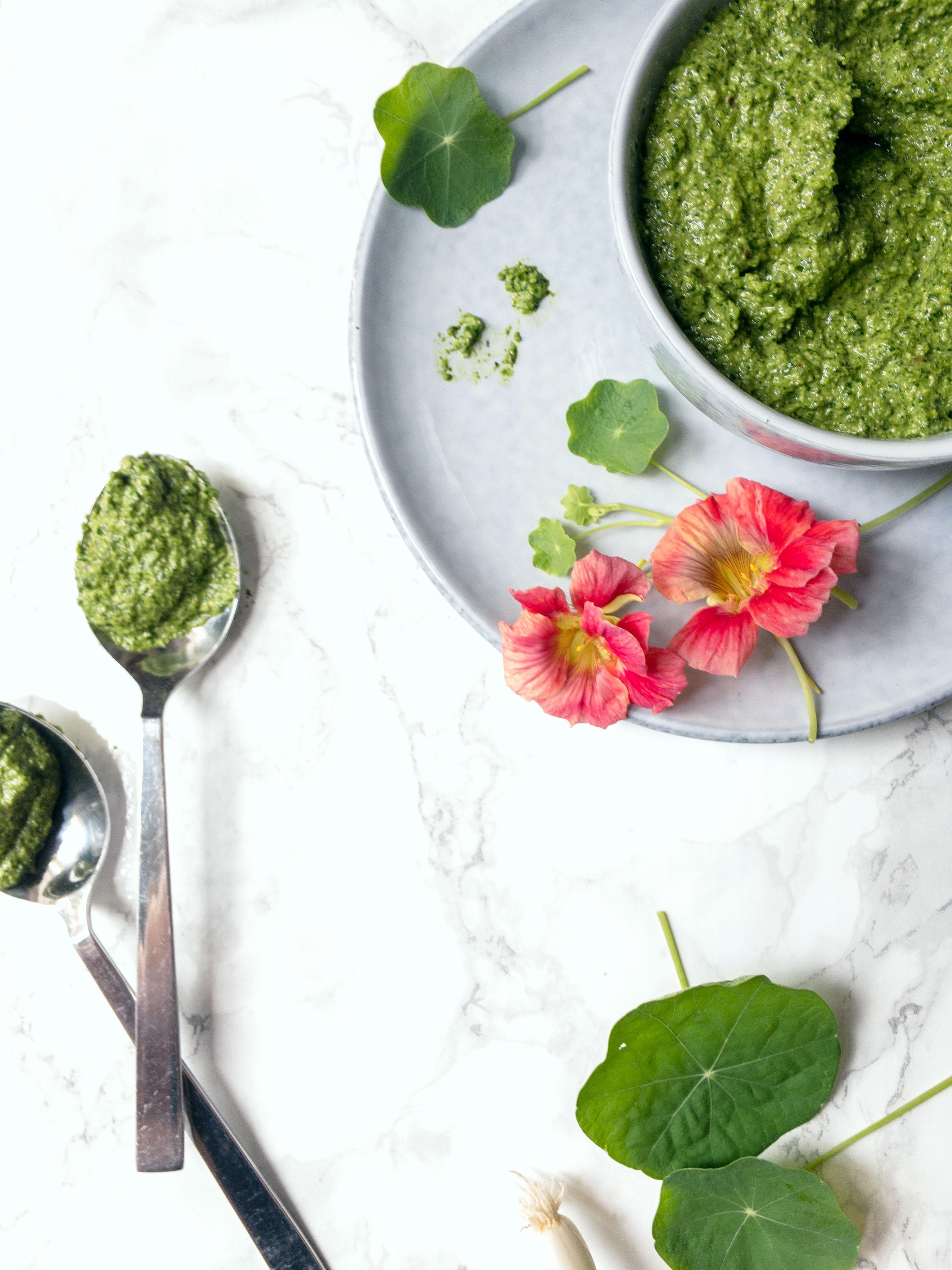 Anti-Inflammatory Nasturtium Pesto