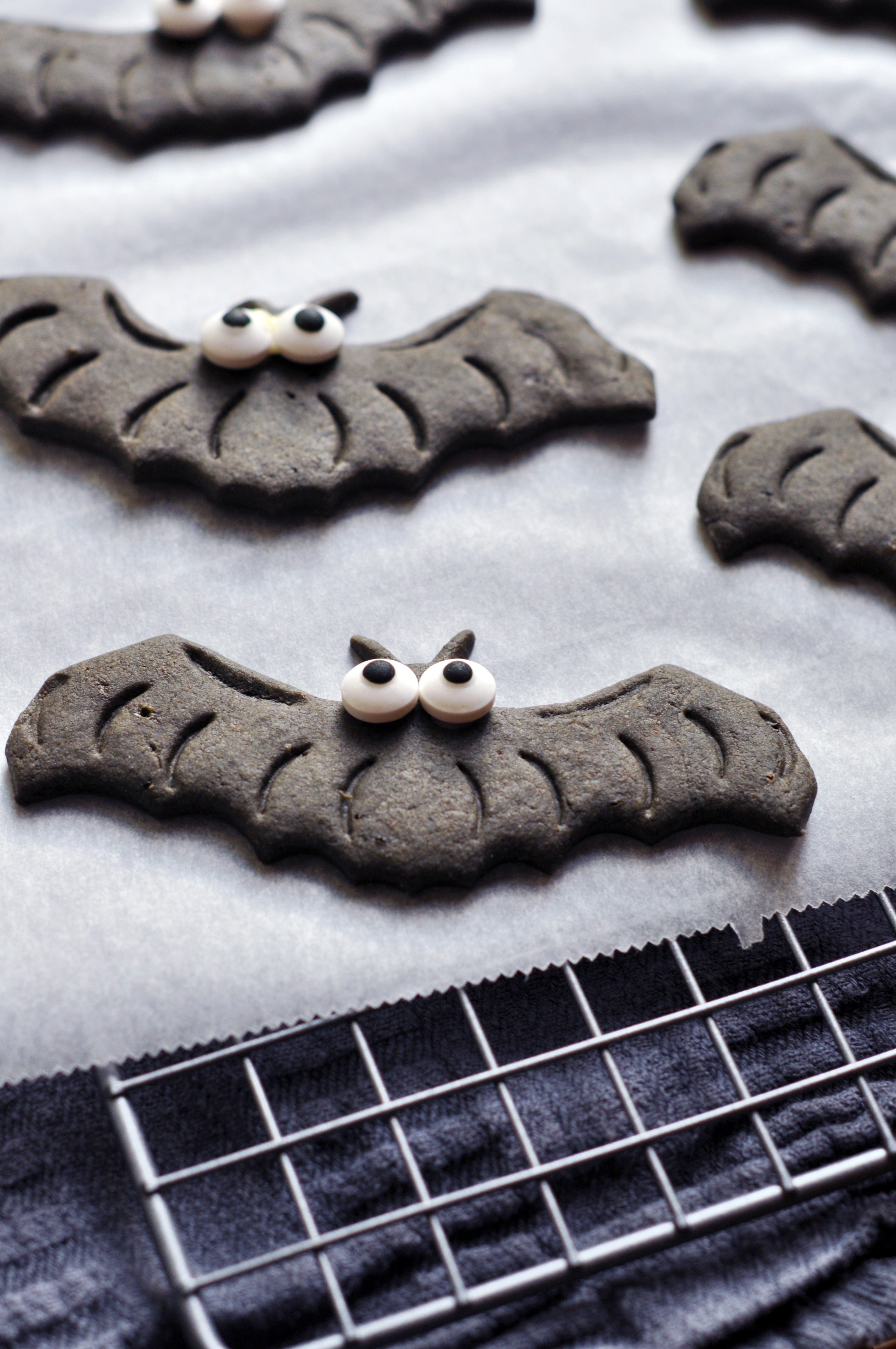 Spooky Black Halloween Cookies