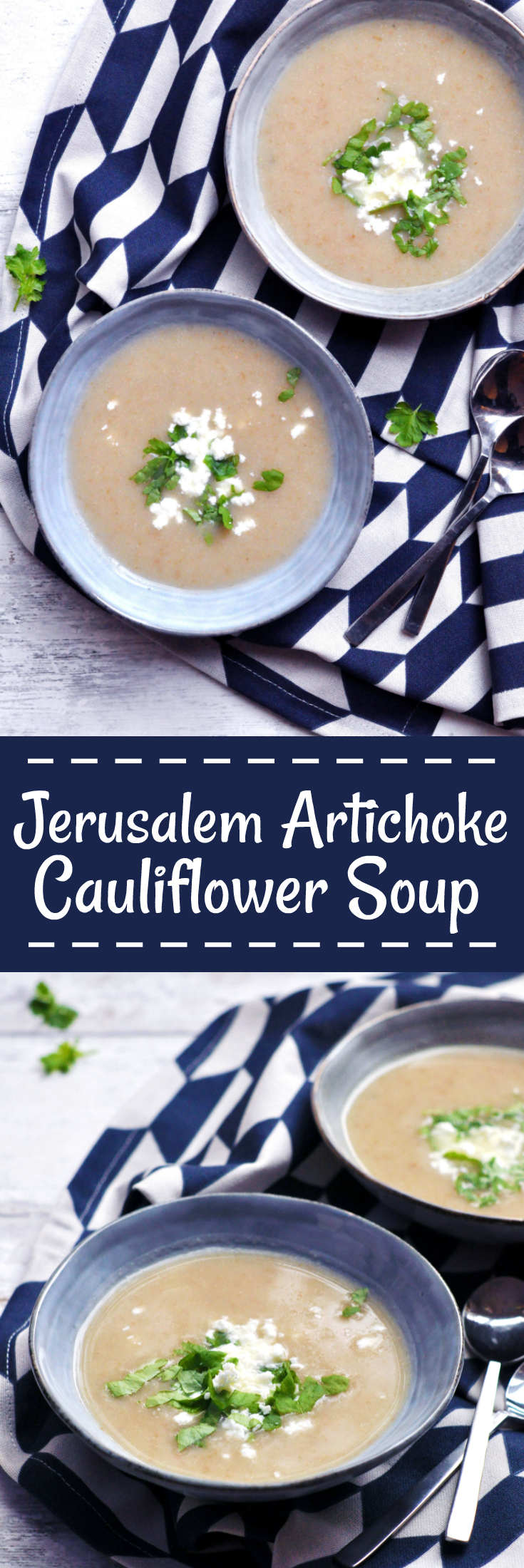 Jerusalem Artichoke Cauliflower Soup - Pin Me