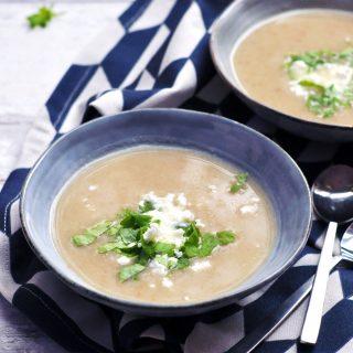 Jerusalem Artichoke Cauliflower Soup