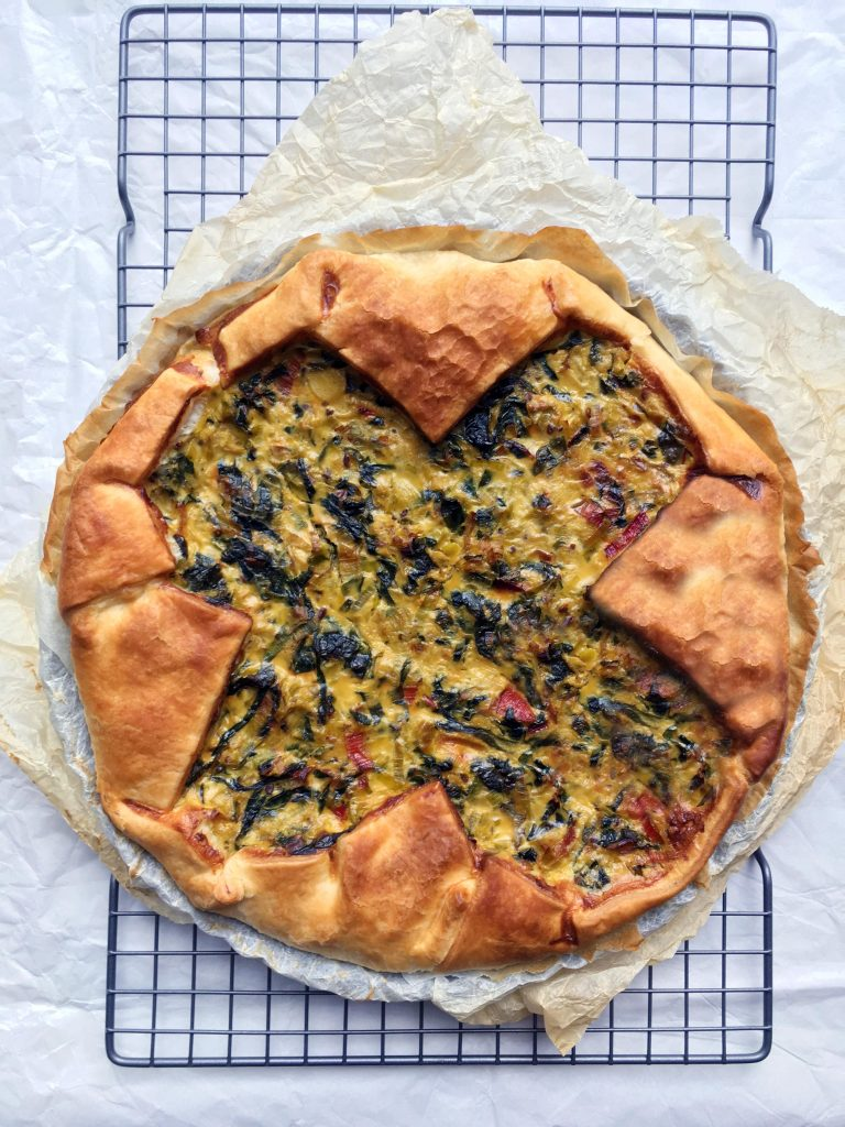 Low Histamine Leek and Swiss Chard Quiche