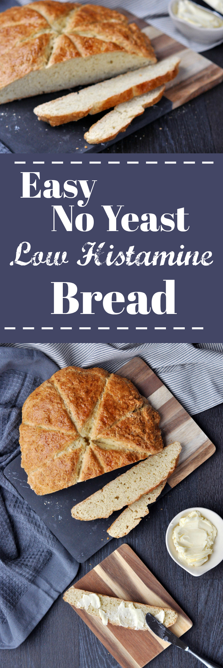 Easy No Yeast Low Histamine Bread - Pin it :)