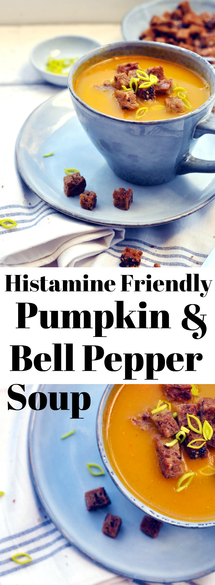 Histamine Friendly Pumpkin and Bell Pepper Soup