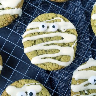 Histamine Friendly Green Halloween Mummy Cookies